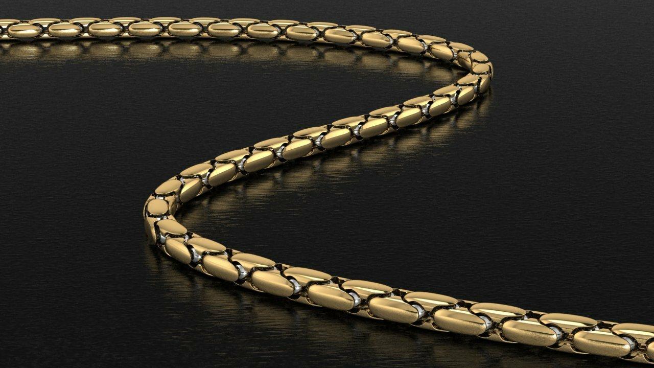 золотая цепочка со знаком зодиака фото