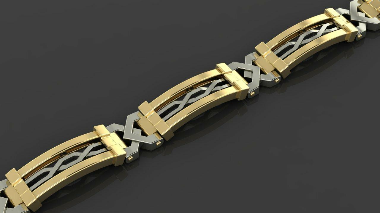 Купить мужской браслет из золота