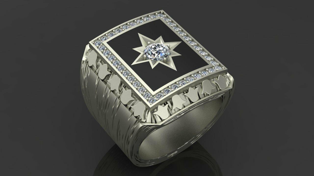 Мужские золотые кольца печатки, перстни с бриллиантами купить в ... fb33914fc5e
