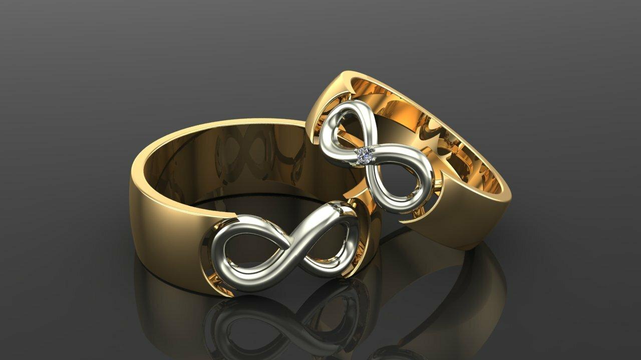 кольцо о знаком беконечности