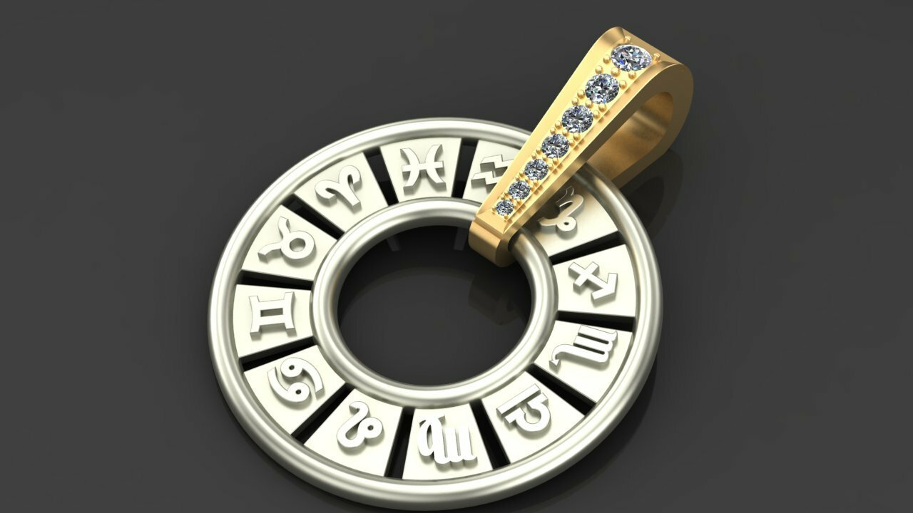 подвеска со знаком зодиака из золота